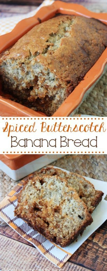 banana bread with butterscotch chips