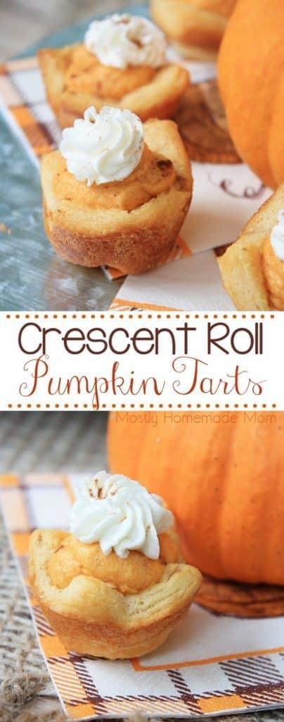 crescent roll pumpkin tart