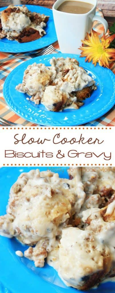 Slow Cooker Biscuits And Gravy Mostly Homemade Mom