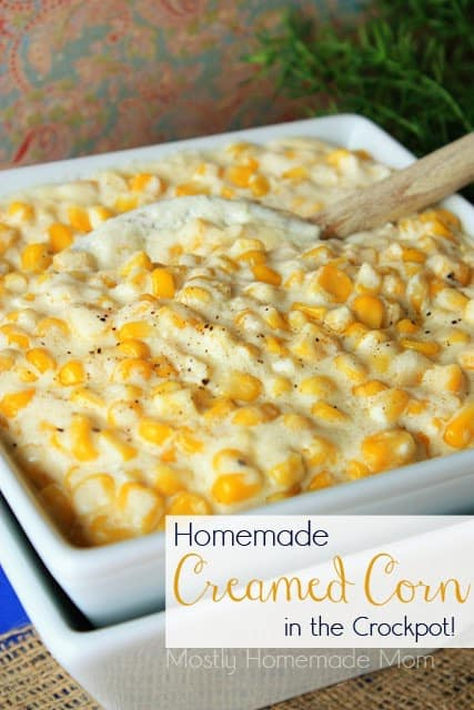 Creamed Corn Recipe in the Crockpot