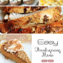 Easy Thanksgiving Dinner Menu