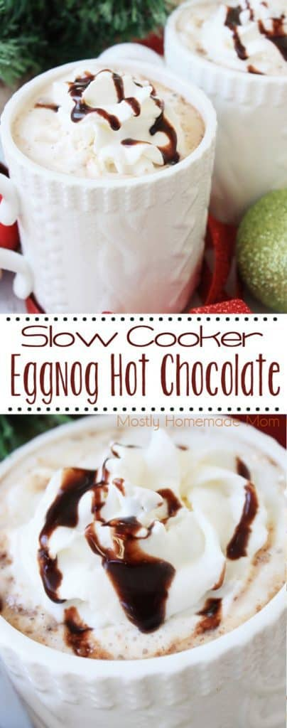 slow cooker eggnog hot chocolate recipe