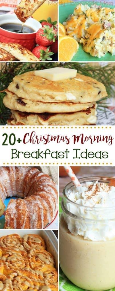 20 + Christmas Morning Breakfast Ideas