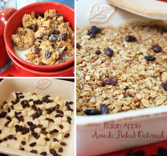 Raisin Apple Amish Baked Oatmeal
