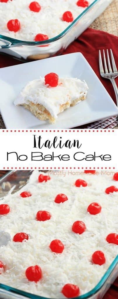 Italian No Bake cake recipe