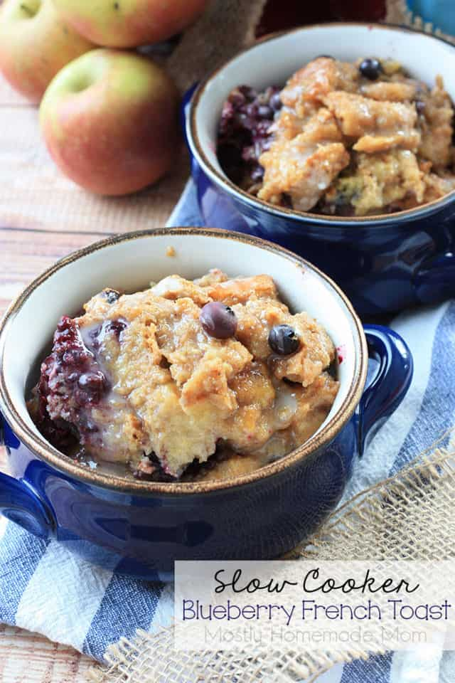 Slow Cooker Blueberry French Toast