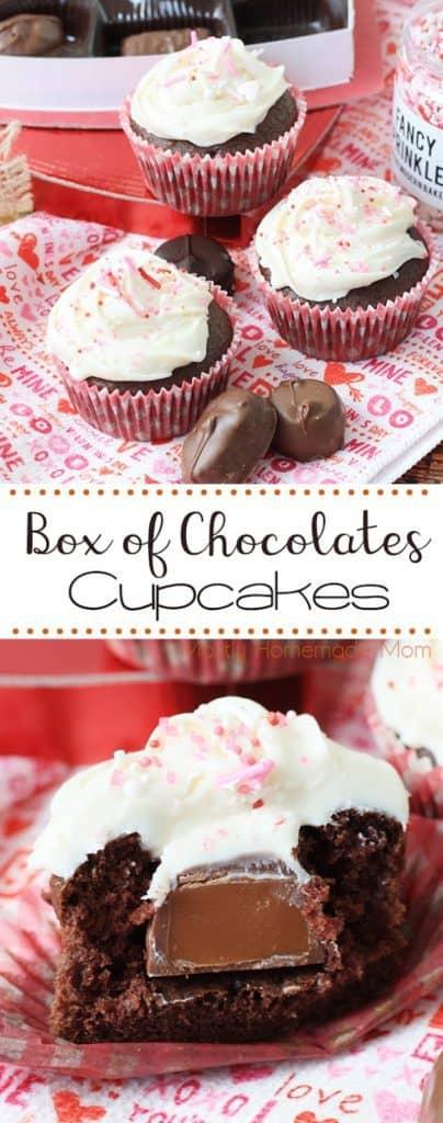 Box of Chocolates Valentines Cupcakes