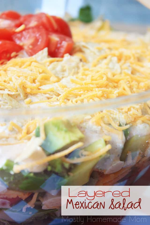 Mexican Layered Salad recipe with seven layers