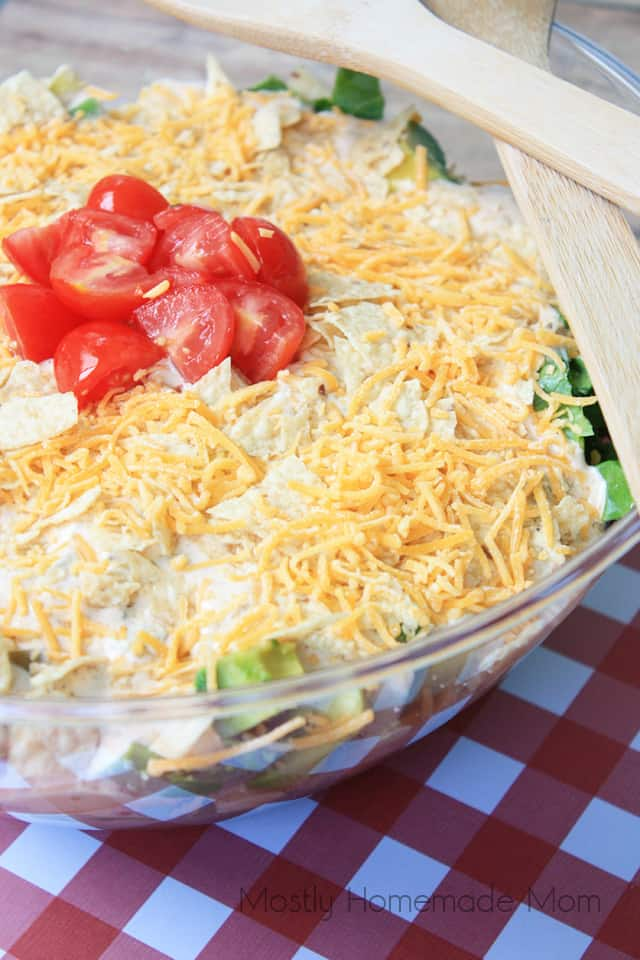 Mexican seven layered salad recipe