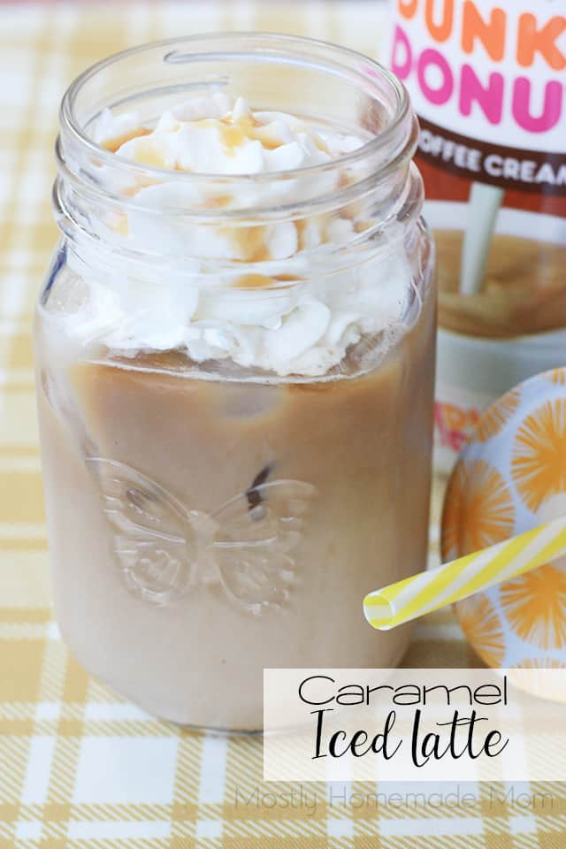 Iced Caramel Latte - Mostly Homemade Mom