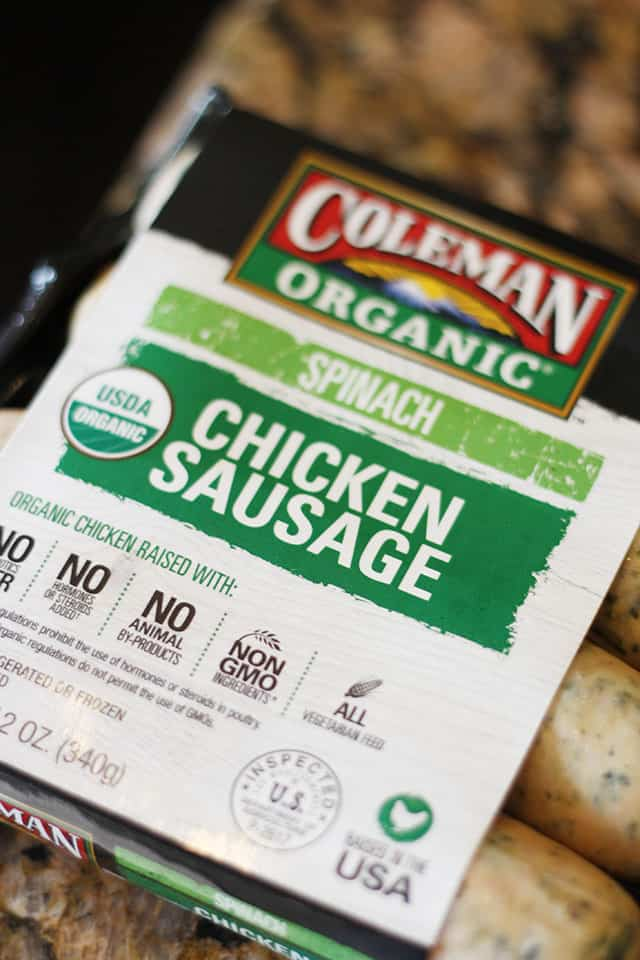 Coleman chicken sausage package