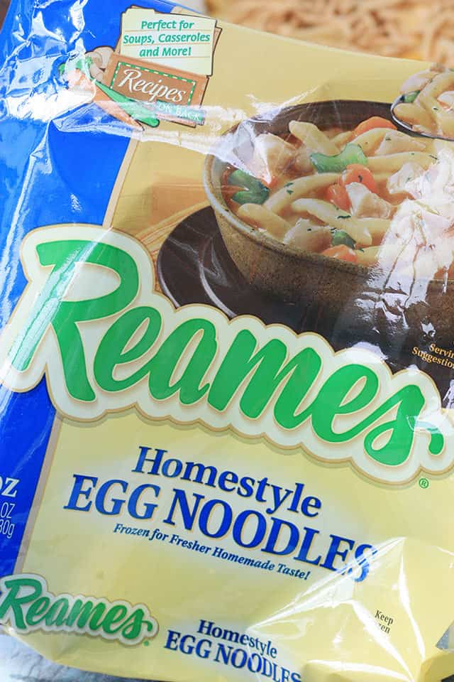 Reames egg noodles in the package