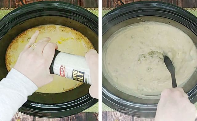 Adding salt to cream of broccoli soup recipe in a Crockpot