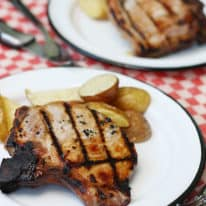 Grilled Bone In Pork Chops (VIDEO)